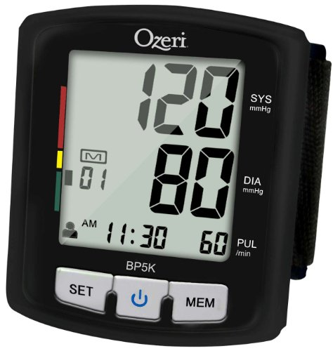 Ozeri BP5K Digital Blood Pressure Monitor with Voice-Guided Positioning and...