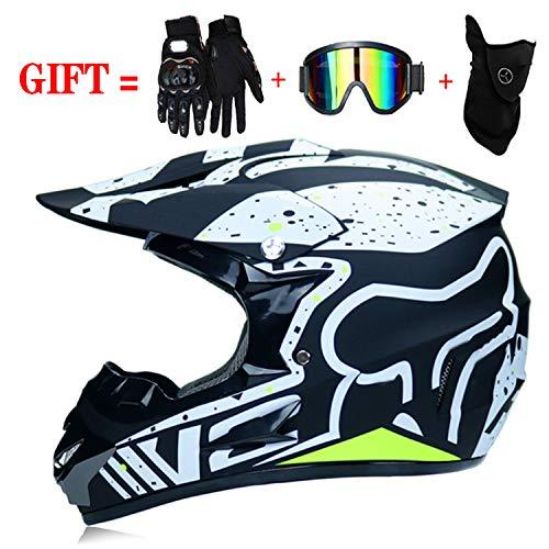 MRDEER/® Off Road Helm Kit Adult Motocross Helm Set Unisex Motorradhelm Cross Helme Schutzhelm ATV Helm mit Handschuhe Maske Brille f/ür M/änner Damen Sicherheit Schutz S, M, L, XL