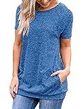 iClosam Camisetas Mujer Verano 2020 Tallas Grandes AlgodN...
