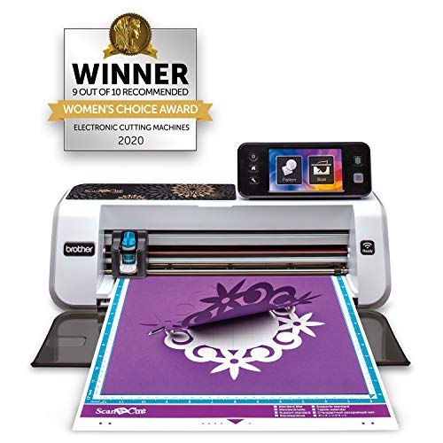 Brother CM350E ScanNCut 2 Cutting Machine with Scanner, Make DIY Vinyl Wall Décor, Custom Stickers and Stencil Sheets with 631 Inclu   ded Patterns, ScanNCut Online Activation Card