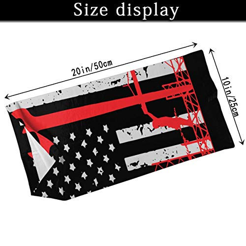 Ironworker America Flag Neck Gaiters Face Cover Dust Wind UV Sun Protection for Fishing Hiking Cycling Outdoor Activities