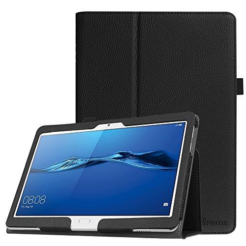 Fintie Hülle Hülle für Huawei MediaPad M3 Lite 10 - Ultra Schlank Folio Kunstleder Schutzhülle Etui Tasche Hülle Cover für Huawei MediaPad M3 Lite 10 Tablet-PC, Schwarz