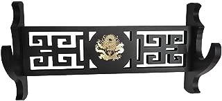 Xlby 1-Tier Dragon Sword Holder Wall Padded Katana Stand Samurai Sword Holder Display Rack Dragon Logo