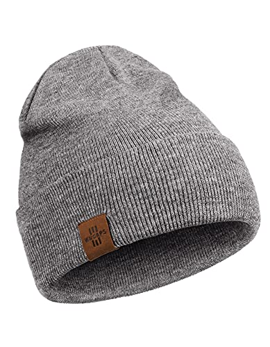 Beanie for Men, Comfortable Breathable Soft Beanie, Fashion Winter Hats for Women and Men, Gifts for Him/Her (Grey)