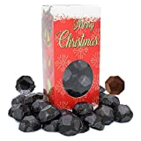 Christmas Milk Chocolate Crispy Coals, Party Bag Fillers, Individually Wrapped Foils, Kosher Certified (1 Pound)
