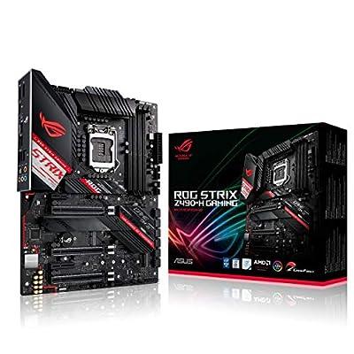ASUS ROG Strix Z490-H Gaming Z490 LGA 1200 (Intel 10th Gen) ATX Gaming Motherboard (12+2 Power Stages,DDR4 4600, Intel 2.5 Gb Ethernet, USB 3.2 Gen 2, Aura Sync)