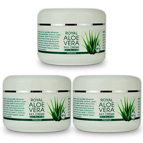 Royal Aloe Vera 24 h Gesichtscreme Tages/Nacht Creme mit 60% Bio Aloe Vera (3)