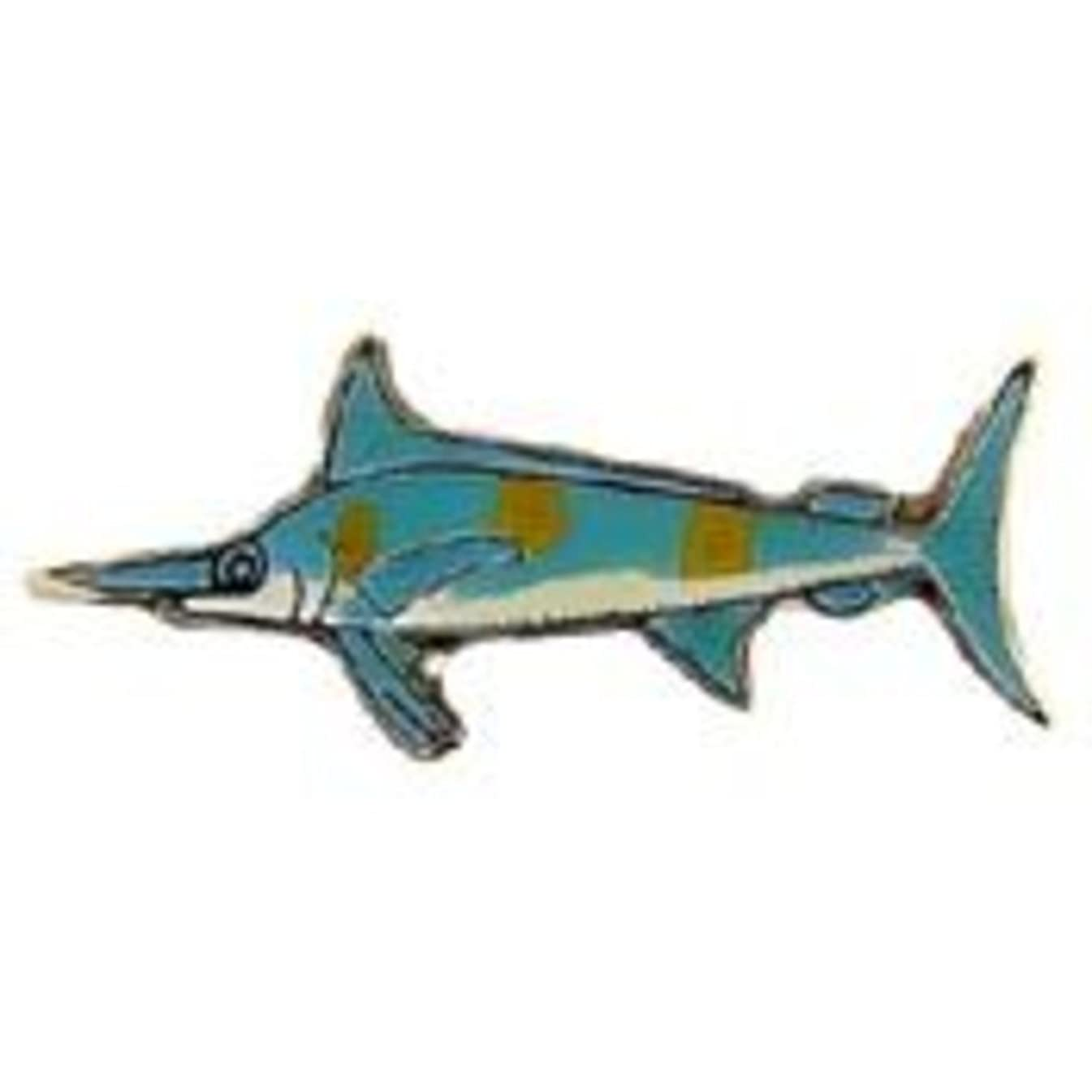 EagleEmblems P00655 Pin-Fish,Marlin,Blue (1'')