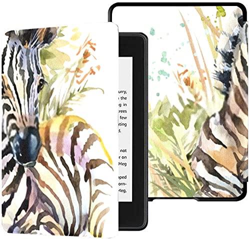 Funda para el Nuevo Kindle Paperwhite Funda de Tela Resistente al Agua (10.a generación, versión 2018), Funda para Tableta Zebra Cub Wild Animals