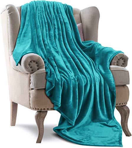 Utopia Bedding Fleece Blanket Throw Size Turquoise 300GSM Luxury Bed Blanket Anti-Static Fuzzy Soft Blanket Microfiber