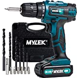 MYLEK 18V Cordless Drill Driver, 1300 mAh Li-Ion battery with 1 Hour Quick