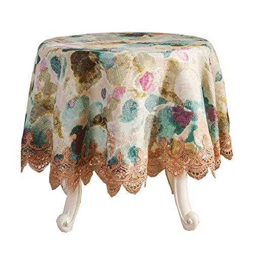 GZQDX Mantel, Mantel Resistente al Agua con Estampado Floral Decorativo Manteles de Tela sin Arrugas y Resistentes a Las Manchas