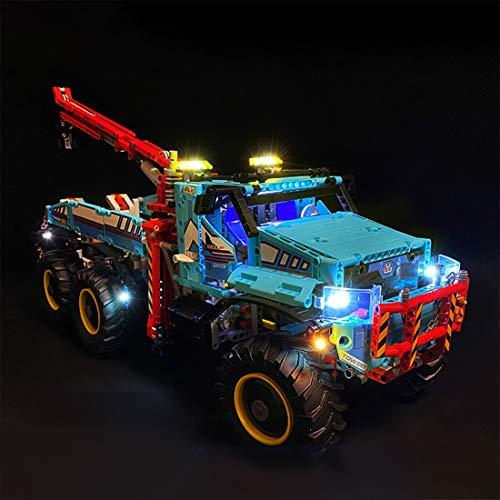 MAJOZ0 Set di Luci per LEGO Technic Camion Autogrù, Kit di Illuminazione a LED Compatibile con LEGO 42070 - Modello Lego non incluso