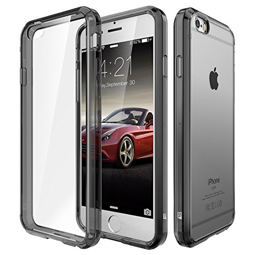 ELV Ultimate Protection Slim Scratch/Dust Proof Transparent Back Case with Shock Absorbing Case Cover for Apple iPhone 6S / iPhone 6 4.7 Inch - Grey