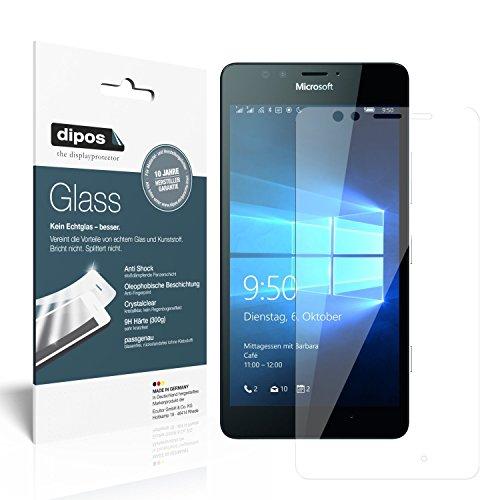 dipos I 2x Panzerfolie klar passend für Microsoft Lumia 950 Schutzfolie 9H Bildschirmschutz-Folie