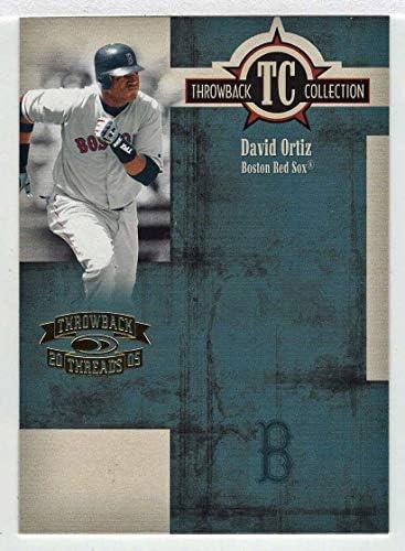 David Ortiz Baseball Card 2005 Donruss Throwback Threads TC Collection TC 60 NM MT product image