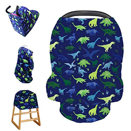 Stretchy Baby Car Seat Cover for Baby Boys and Girls,Multiuse - Nursing Breastfeeding Covers,Shopping Cart/High Chair/Stroller Covers,Infinity Scarf,Car Seat Canopies