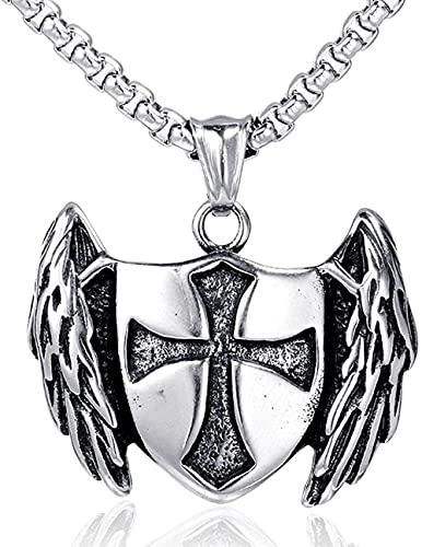 NC134 Hip Hop Animal Wings Shield Hombres s Masculino Estrella Colgante Collar Joyería