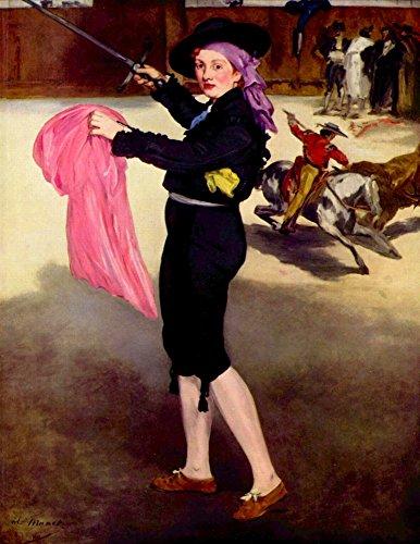 Das Museum Outlet–Mlle. Augustiner in das Kostüm of a matador von Manet, gespannte Leinwand Galerie verpackt. 147,3x 198,1cm