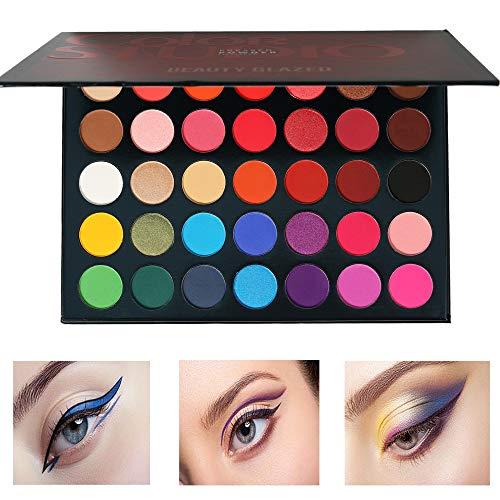 Beauty Glazed 35 Farben Lidschatten Palette Matt und schimmernd,wasserfestes,langlebiges...