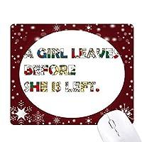 女の子についての引用 オフィス用雪ゴムマウスパッド