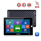 Xgody 720F GPS Navigation for Car Lorry SAT NAV GPS System Xgody 7 Inch HD Touch Screen HGV with Landmarks Spoken Turn by Turn Directions POI Search Free Lifetime UK/Ireland Maps Update