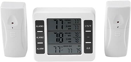 Termómetro del refrigerador Termómetro sin hilos del congelador del LCD Digital con la parte posterior audible de la alarma magnética para el hogar/la cocina/la oficina