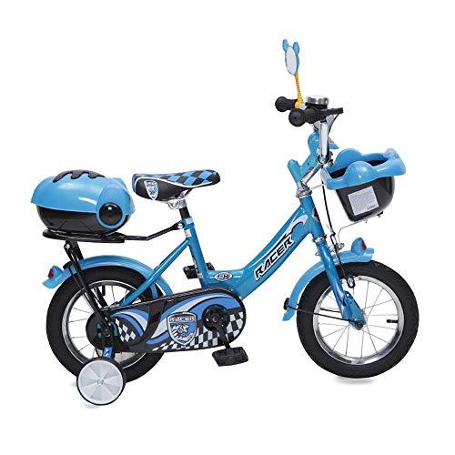Byox Kinderfahrrad 12 Zoll 1282 blau Stützräder, Fahrradklingel, Korb, Spiegel