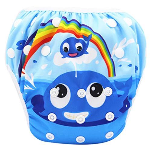 Allence Schwimmwindel wiederverwendbar, Baby Schwimmhose Verstellbarer, Waschbar Schwimmwindel für Baby (0-3 Jahre), Mehrere Muster,Befristete Promotion