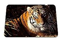 26cmx21cm マウスパッド (大きな猫の下の虎草捕食者) パターンカスタムの マウスパッド