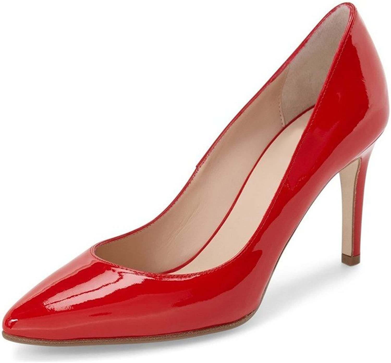 UMEXI Pointed Toe High Heels Slip On Fashion Pumps Party Stilettos for Women