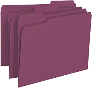 Smead File Folder, 1/3-Cut Tab, Letter Size, Maroon, 100 per Box (13093)