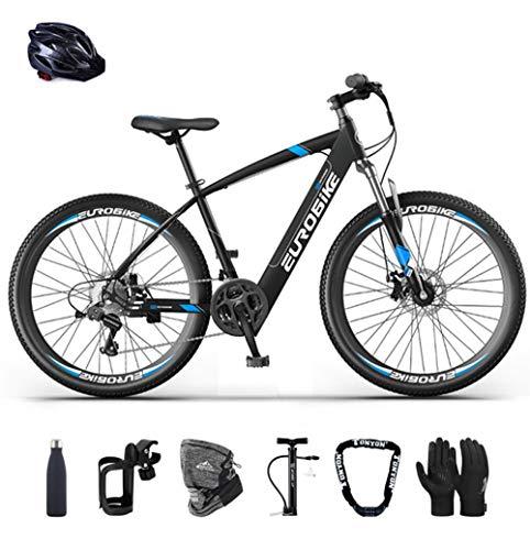 """E-Bike klapprad Elektrofahrrad 26\"""" für Erwachsene, Ebikes Fahrräder All Terrain 21 Geschwindigkeit und 36V/ 10AHLithium Batterie (Blau)"""