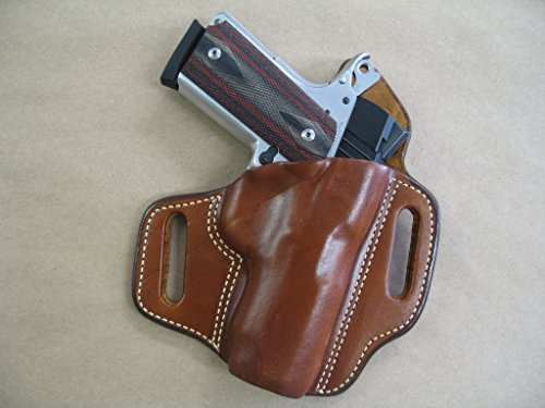 Kimber Compact 1911 OWB Leather 2 Slot Molded Pancake Belt...