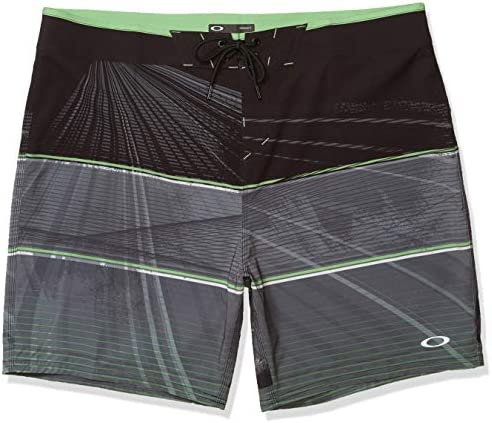 Oakley Men s Geometric Print Board Short 18 Flat Waist Lace up Closure Quick Drying Board Shorts product image