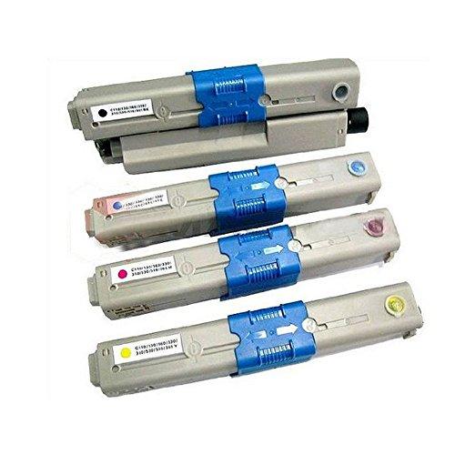 Pack de 4 Toner cartuchos Compatible con Oki C310 C330 para impresoras C310 C310 N C310dn C330 C330DN C331 C510 C511 C530 C530DN C531 MC351DN C351 MC352 MC361 MC362 MC561 MC561DN MC562
