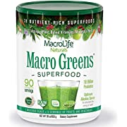 Macrolife Naturals Macro Greens Canister, 850 Grams