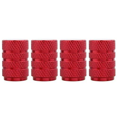 TOMALL Tappi Stelo valvola Stile Pneumatico Rotondo Rosso per Protezioni Antipolvere Ruote Moto Veicolo