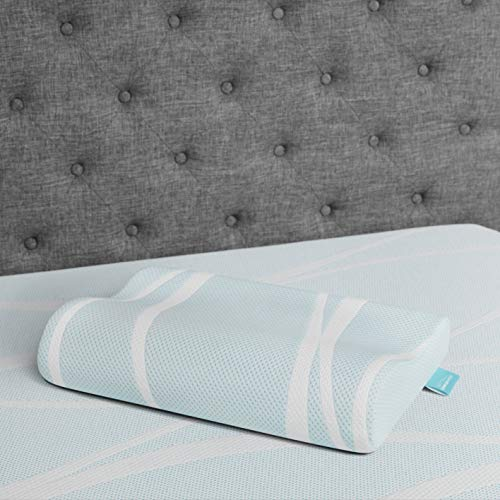 Tempur-Pedic TEMPUR-Breeze Cooling Neck Memory Foam Medium Firm Pillow, White