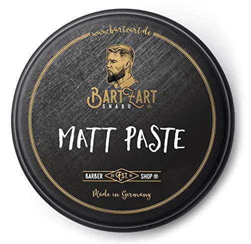 BartZart Matt Paste I 100 ml Haarwachs matt für Männer I Matte Pomade für lässigen Look I Hair Wax I Haarstyling Produkte direkt vom Barbier