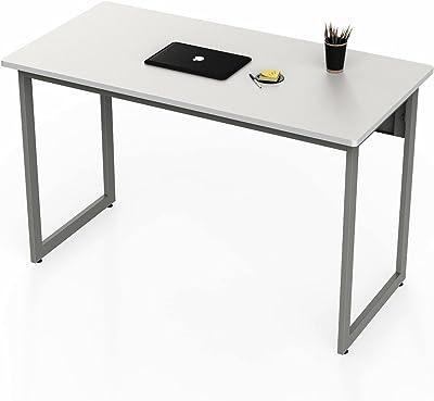 """Linea Italia Quattra Office Des, 24""""x48"""", White - ZUS776"""