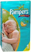 Pampers Baby Dry Diapers, Size 1, Jumbo Pack, 50 ct