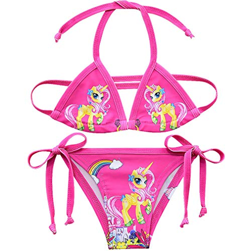Traje de Baño Unicornio Bañador para Niñas Traje de Playa de Natación Vacaciones Playa 2 Piezas