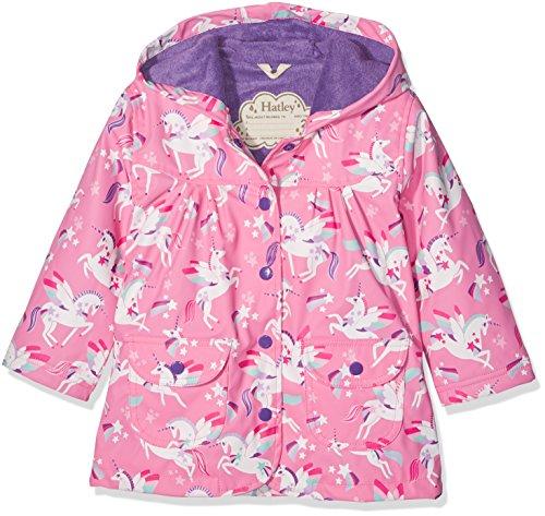 Hatley Girls' Printed Raincoat, Pink (Winged Unicorn), 8 Years