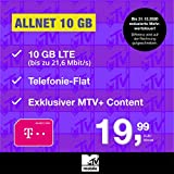 Telekom Handyvertrag MTV Mobile Allnet 10 GB - Internet Flat, Allnet Flat Telefonie in alle Deutschen Netze, MTV+, EU-Roaming, 24 Monate Laufzeit