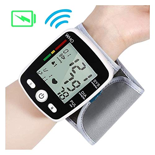 XYJ CHUNYAN- Blood Pressure Monitors The Best Gift to Voice Wrist Digital Blood Pressure Monitor Automatic Tonometer USB Charging A Liquid Crystal Display Voice Heart Rate Monitor Parent