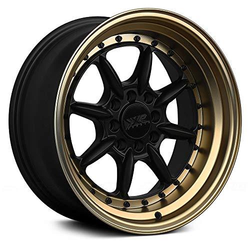 XXR 002.5 15X8 4-100 0 Offset 73.1mm Bore Flat Black / Bronze Lip Wheel Rim
