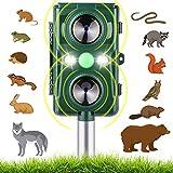 Best Ultrasonic Pest Repeller Birds - AsperX Ultrasonic Animal Repellent, Animal Repeller Solar Powered Review