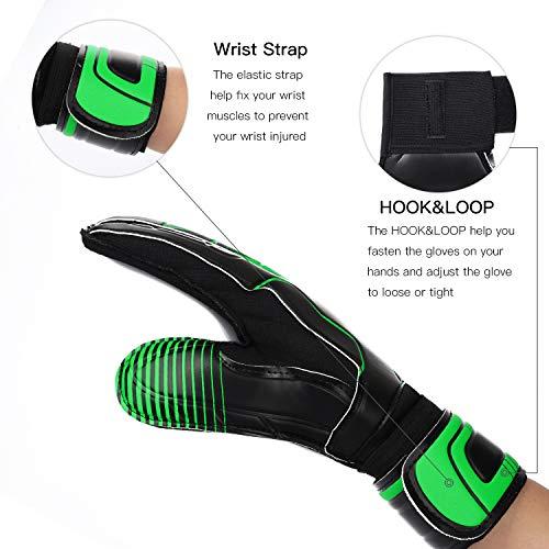 Brace Master Torwarthandschuhe mit Fingerschutz,Protect & Super-Grip 3+3MM Handflächen Fussball Torwarthandschuhe Kinder Herren & Erwachsene - Diverse Größe und Farben - 7