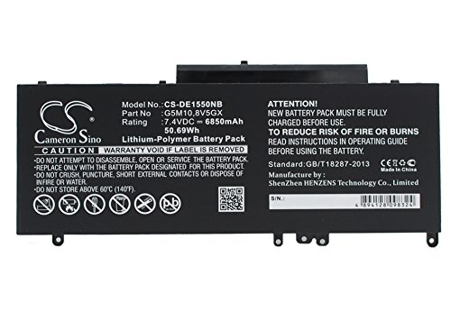 Replacement Battery for DELL Latitude 14 5000, Latitude 14-E5470, Latitude 15 5000, Latitude 3150, Latitude 3160, Latitude 5450, Latitude E3550, Latitude E5250, 7.4V/6850mA